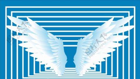 白色翅膀图片