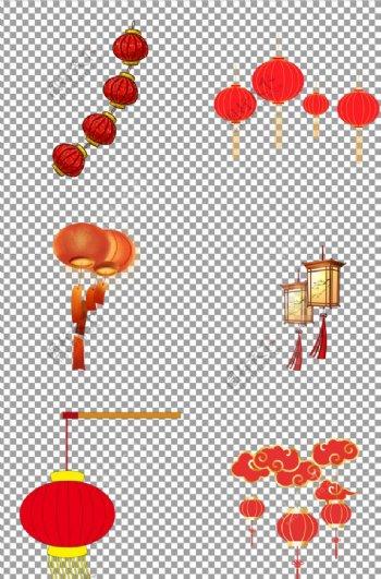 春节新年喜庆手绘灯笼图片