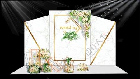 白色大理石纹婚礼背景图片