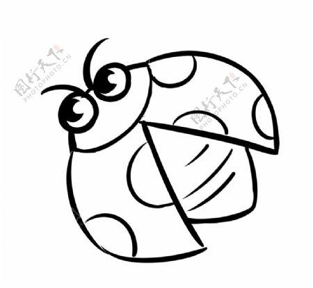 手绘简笔画瓢虫图片