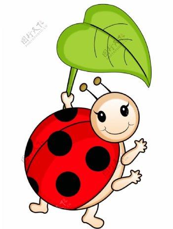 卡通Q版瓢虫图片