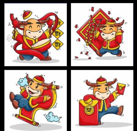 2021春节牛年春节素材图片