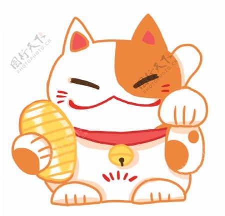 日本招财猫茶壶图片