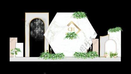白色大理石背景图片