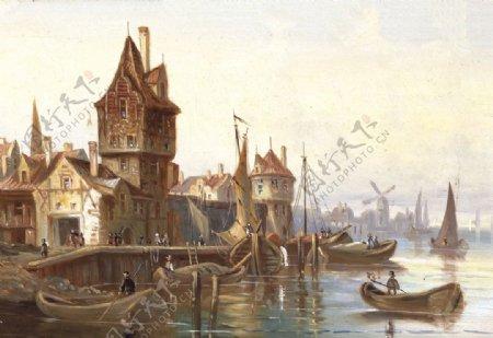 欧式建筑宫殿装饰画图片
