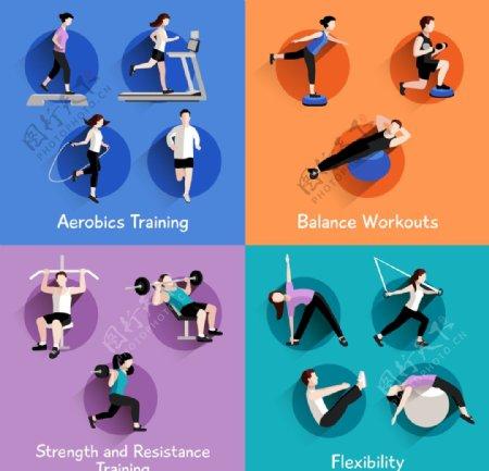 运动健身插画图片