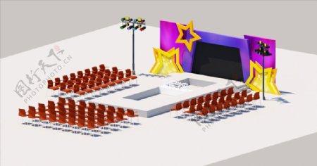 走秀舞台SU模型图片