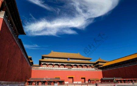 冬至正午时分的北京故宫午门图片