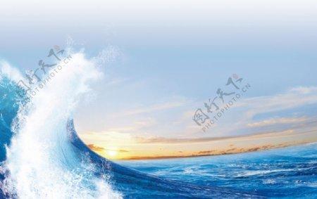 大海巨浪图片