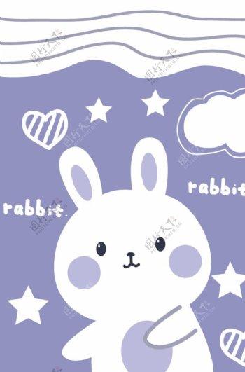 卡通小兔子图片