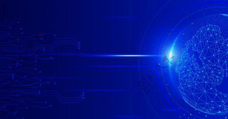 蓝色科技元素背景图图片