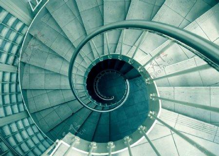 照片灰色螺旋楼梯图片