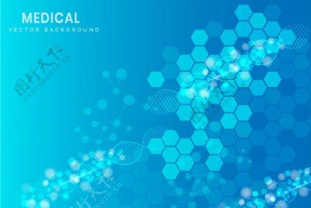 蓝色炫彩科技背景底纹图片