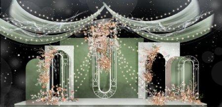 果绿色婚礼效果图图片