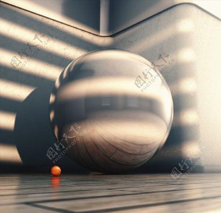 C4D模型室外空间阳光场景图片