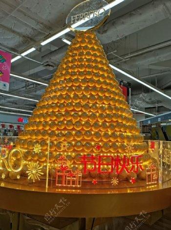 超市巧克力展示台图片