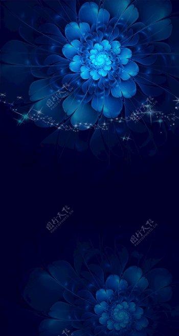 蓝色花朵背景图片