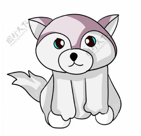 可爱的白色狐狸手绘图片