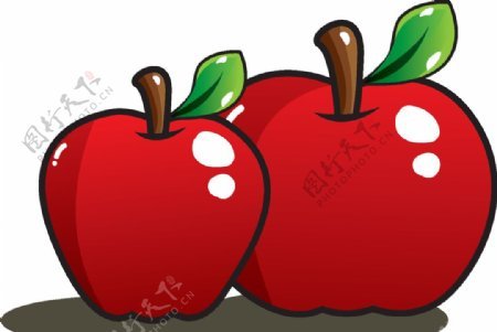 可爱卡通苹果插画图片