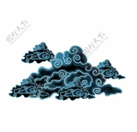 卡通国潮云纹图片
