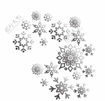 灰色雪花图片