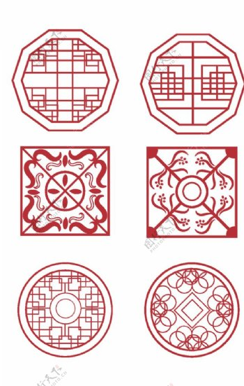 中式古典镂空花纹图片