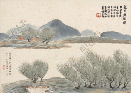 齐白石国画龙井滌砚图图片