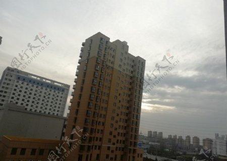 高楼大厦社区素材图片