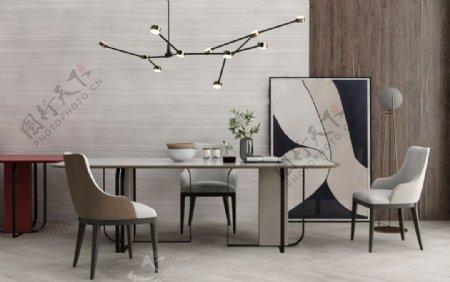 餐桌餐椅组合3d模型图片
