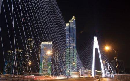 武汉月湖桥夜景图片